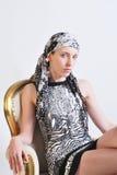 Vrouw in Zwarte Kleding Royalty-vrije Stock Afbeelding