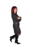Vrouw in zwarte kleding Stock Afbeeldingen