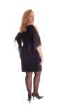 Vrouw in zwarte kleding die zich van rug bevinden Royalty-vrije Stock Foto's