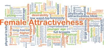 Vrouwelijk aantrekkelijkheidsconcept als achtergrond Stock Afbeeldingen