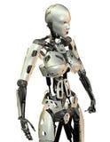Vrouwelijk androïde gevecht Stock Foto