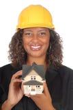 Vrouwelijk architectenportret Stock Foto's