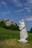 Vrouwelijk beeldhouwwerk in Devin-kasteel Royalty-vrije Stock Afbeeldingen