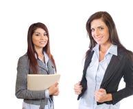 Vrouwelijk Commercieel Team dat op wit wordt geïsoleerdt royalty-vrije stock afbeelding