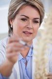 Vrouwelijk de stekelmodel van de artsenholding Stock Fotografie