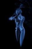 Vrouwelijk die beeld van damp wordt gemaakt stock afbeeldingen