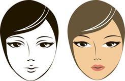 Vrouwelijk gezicht Stock Foto