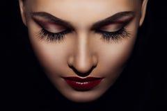 Vrouwelijk gezicht Stock Afbeelding