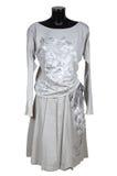 Vrouwelijk grijs kostuum Stock Fotografie