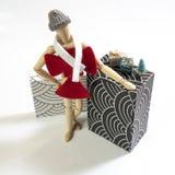 Vrouwelijk houten model royalty-vrije stock fotografie