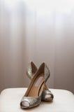 Vrouwelijk huwelijksschoeisel Royalty-vrije Stock Afbeelding