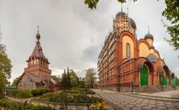 Vrouwelijk klooster. Panorama Stock Foto's