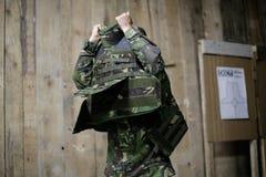 Vrouwelijk kogelvrij vest royalty-vrije stock fotografie