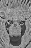 Vrouwelijk leeuwbeeldhouwwerk Stock Fotografie