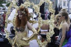 Vrouwelijk Masker in Carnaval in Brno Stock Afbeelding