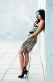 Vrouwelijk model bij manier Stock Foto