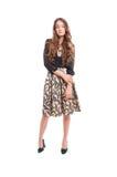 Vrouwelijk model met het mooie lange haar stellen Royalty-vrije Stock Foto