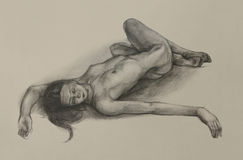 Vrouwelijk Naakt Art Model Royalty-vrije Stock Afbeeldingen
