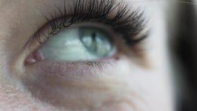 Vrouwelijk oog Close-up, slo moe stock video