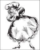 Vrouwelijk personage in Akeleikostuum Stock Afbeeldingen
