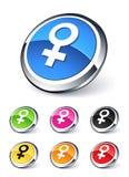 Vrouwelijk pictogram Stock Foto