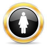 Vrouwelijk pictogram Stock Afbeeldingen