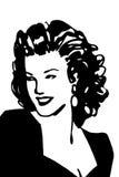Vrouwelijk portret royalty-vrije illustratie