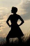 Vrouwelijk Silhouet stock foto's