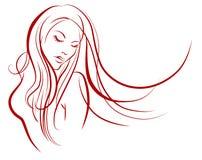 Vrouwelijk silhouet Royalty-vrije Stock Foto's