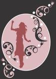 Vrouwelijk silhouet royalty-vrije illustratie