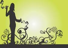 Vrouwelijk silhouet Royalty-vrije Stock Foto