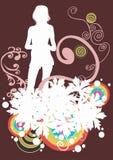 Vrouwelijk silhouet Stock Afbeeldingen