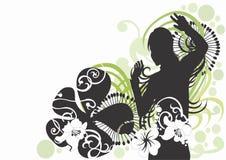 Vrouwelijk silhouet Stock Foto