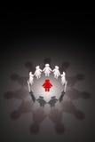 Vrouwelijk team Sterke leider & x28; symbolische cijfers van people& x29; 3d illu Royalty-vrije Stock Foto