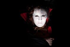 Vrouwelijk vampierportret stock foto