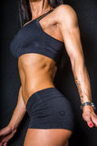 Vrouwelijke abs Stock Foto