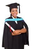 Vrouwelijke Afrikaanse gediplomeerde stock foto