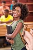 Vrouwelijke Afrikaanse universitaire student stock foto's