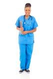Vrouwelijke Afrikaanse verpleegster royalty-vrije stock foto's