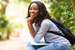 Vrouwelijke afro Amerikaanse student Stock Foto