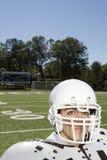 Vrouwelijke Amerikaanse voetballer Stock Foto's