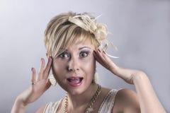 Vrouwelijke angst Stock Foto's
