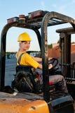 Vrouwelijke arbeider Stock Foto's