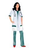 Vrouwelijke arts stock illustratie