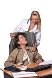 Vrouwelijke arts en gedeprimeerde zakenman royalty-vrije stock fotografie