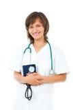 Vrouwelijke arts met stethoscoop Stock Afbeelding