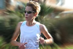 Vrouwelijke atleet opleiding Royalty-vrije Stock Fotografie