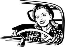 Vrouwelijke Automobilist vector illustratie