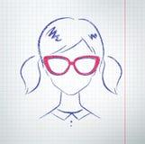 Vrouwelijke avatar Royalty-vrije Stock Foto