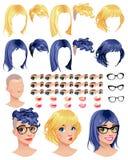 Vrouwelijke avatars van de manier Stock Fotografie